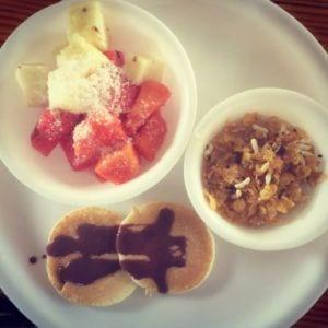 Food at Sampoorna Yoga School